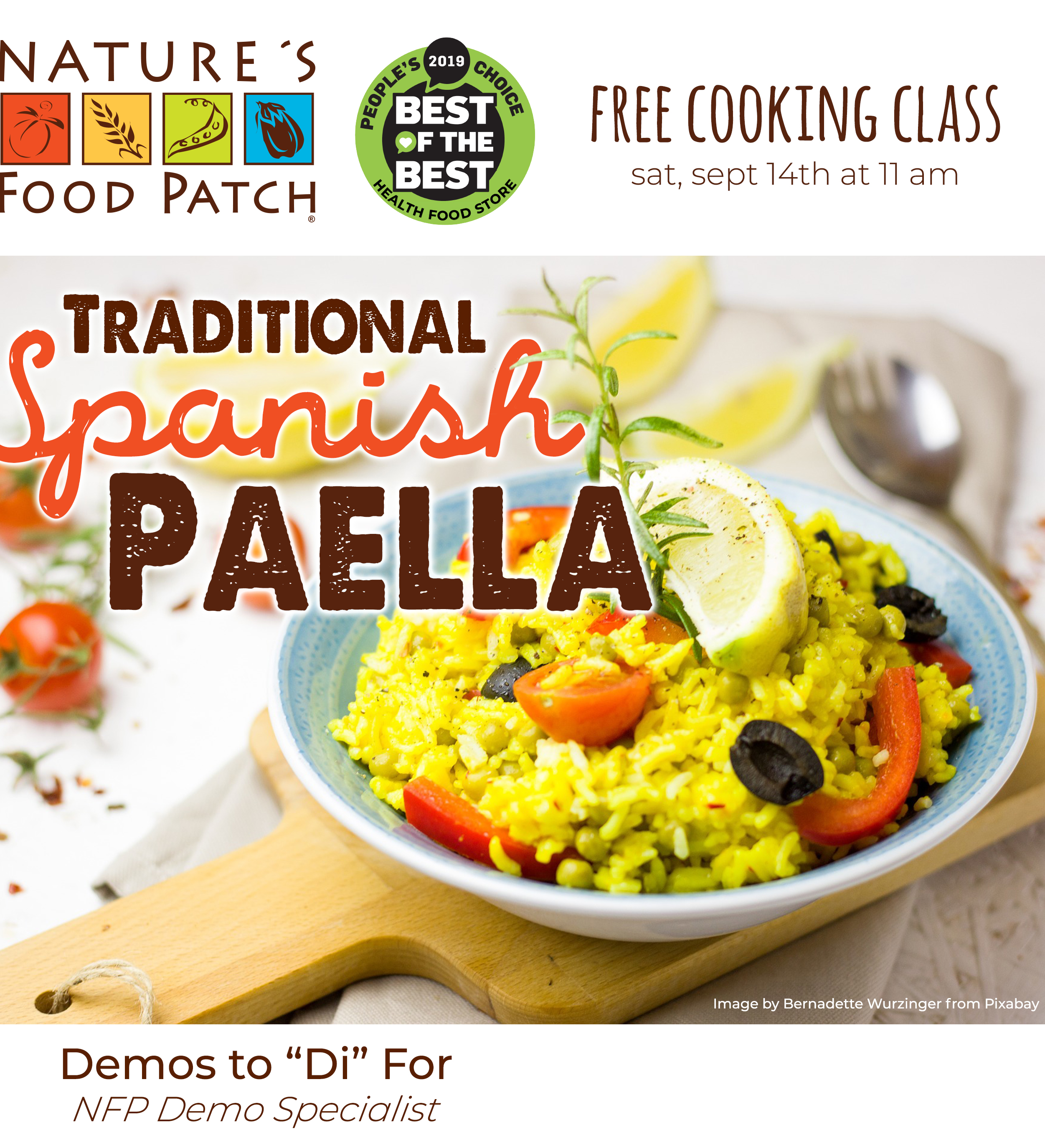 Traditional Spanish Paella, Nature's Food Patch - 1225 Cleveland Street - Clearwater