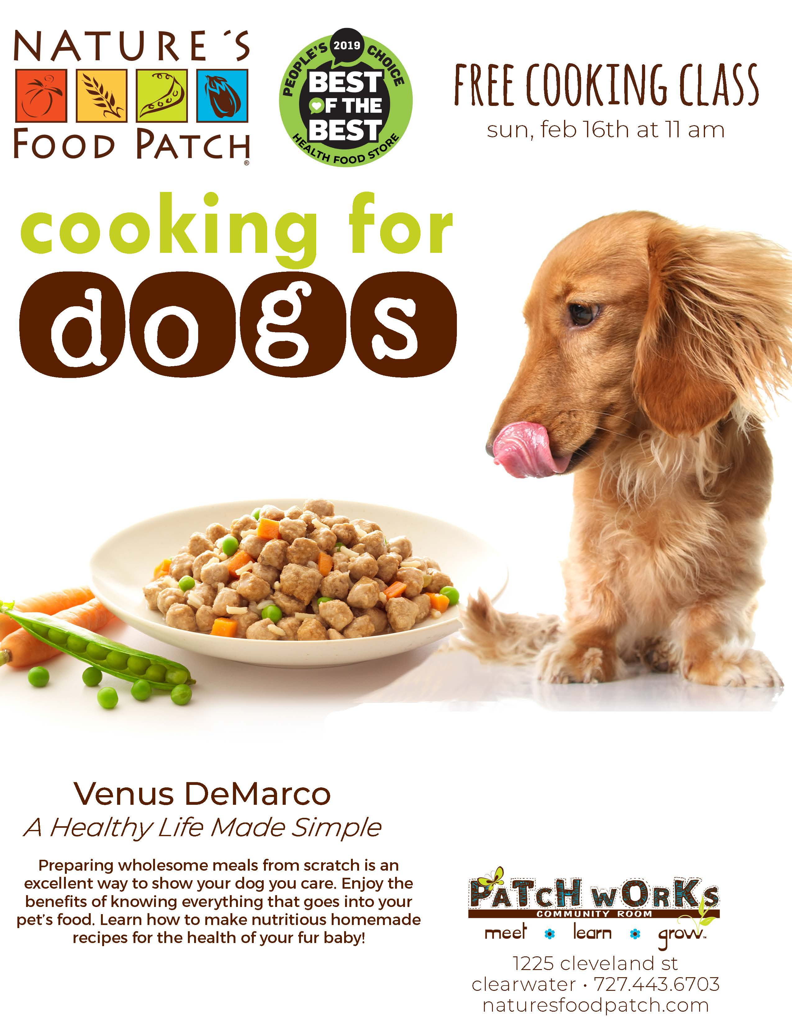 Cooking for Dogs, Nature's Food Patch - 1225 Cleveland Street - Clearwater