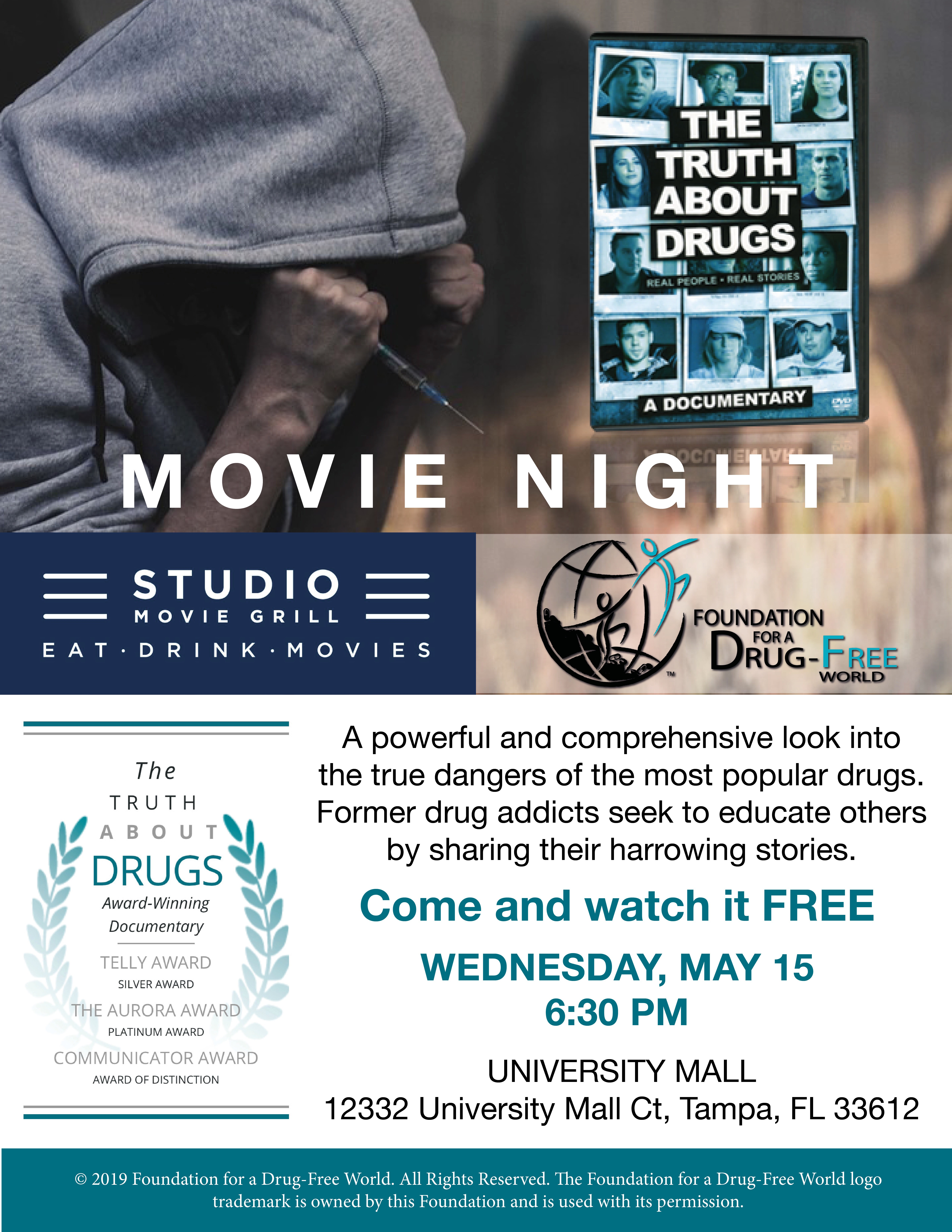 Studio Movie Grill Tampa Hosts Free Movie Event, Studio Movie Grill -  - Clearwater